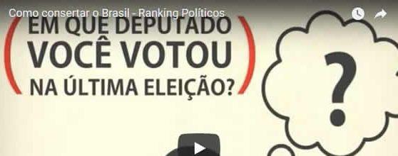 Como consertar o Brasil – Ranking Políticos